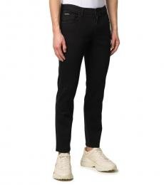 Dolce & Gabbana Black Logo Print Slim-Fit Jeans