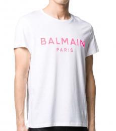 White Pink Logo T-Shirt