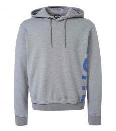 Grey Side Logo Hoodie