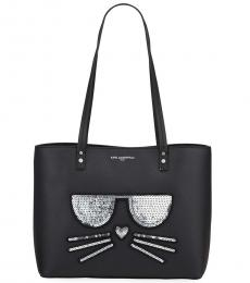 Karl Lagerfeld Black Maybelle Sequin Large Tote