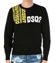 Dsquared2 Black Embroidery Logo Sweater