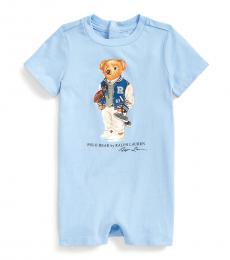 Baby Boys Blue Lagoon Football Bear Shortall