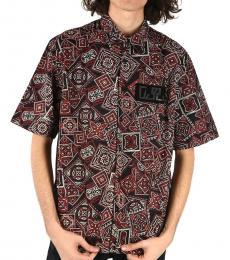 Black Allover Print Fry Shirt