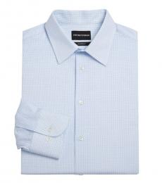 Blue Modern-Fit Dress Shirt