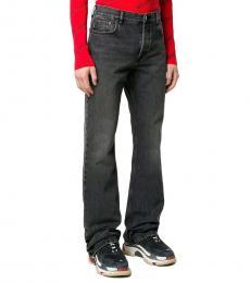Dark Grey Cotton Jeans