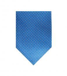 Michael Kors Blue Chainlink Silk Tie
