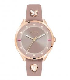 Furla Pink Logo Modish Watch