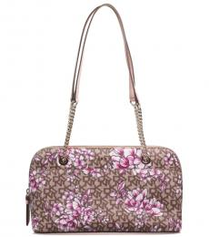 Brown Bryant Park Floral Large Shoulder Bag