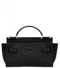 Dolce & Gabbana Black Sicily 62 Mini Satchel