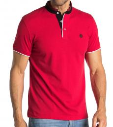 Rosso Logo Trimmed Polo