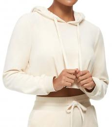 True Religion Pearl Velour Crop Hoodie