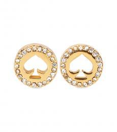 Kate Spade Gold Halo Spade Stud Earrings