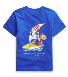 Ralph Lauren Little Boys Sapphire Polo Bear Jersey T-Shirt