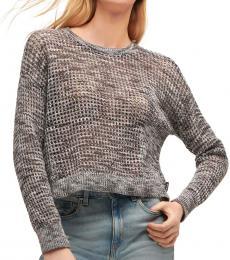 Black Weave Sweater