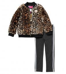 Betsey Johnson 3 Piece Jacket/Top/Leggings Set (Little Girls)