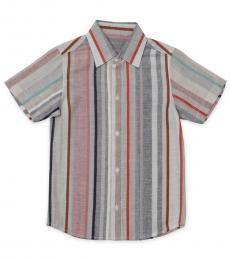 Self Stitch Little Boys Earthy Stripe Shirt