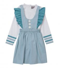 Self Stitch Baby Girls Stripe Detail Dress Set