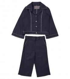 Self Stitch Baby Girls Blue Amalie Co-ord Set