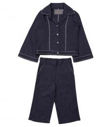Self Stitch Girls Blue Amalie Co-ord Set