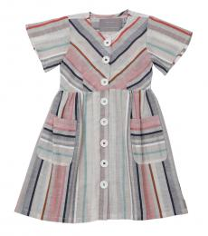 Self Stitch Baby Girls Earthy Stripe Dress
