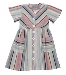 Self Stitch Girls Earthy Stripe Dress