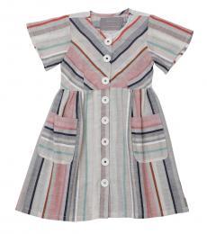 Self Stitch Little Girls Earthy Stripe Dress