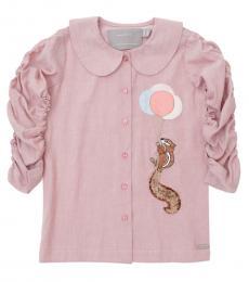 Self Stitch Little Girls Rising High Squirrel Shirt