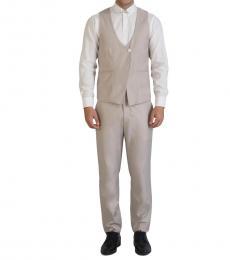 Self Stitch's Overlap Beige Waistcoat