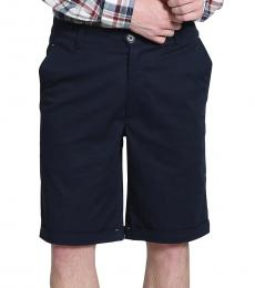Self Stitch Navy Cotton Shorts