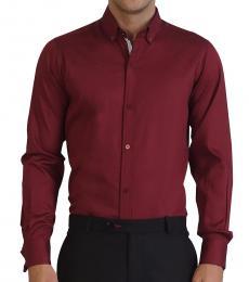 Self Stitch Signature Textured Wine Shirt