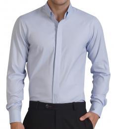 Self Stitch Striped Placket Detail Shirt