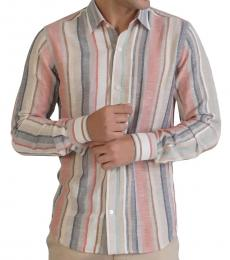 Self Stitch Multi Striped Statement Shirt