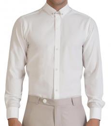 Self Stitch Classic White Textured Shirt