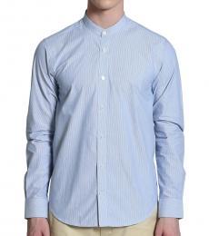 Grandad Collar Stripe Shirt