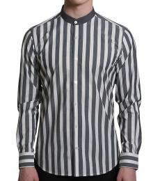 Self Stitch Monochromatic Stripe Shirt