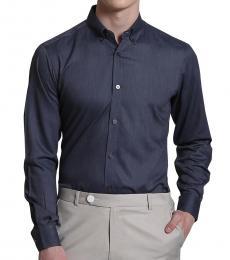 Self Stitch Indigo Button Down Shirt