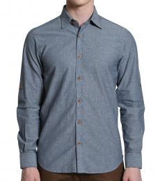 Self Stitch Pick Stitch Collar Shirt