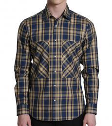 Self Stitch Cotton Plaid Shirt