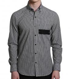 Self Stitch Monochrome Gingham Shirt
