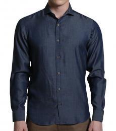 Self Stitch Diffusion Collar Shirt