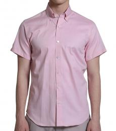 Self Stitch Oxford Cotton Pink Shirt