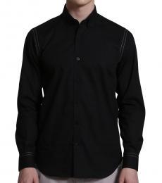 Self Stitch Stitching Detail On Sleeve Shirt