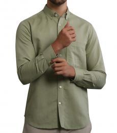 Pistachio Cotton Button Down Shirt