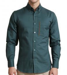 Self Stitch Emrald Herringbone Shirt