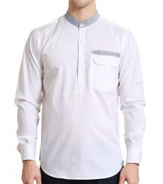 Self Stitch Half Button Granded Shirt