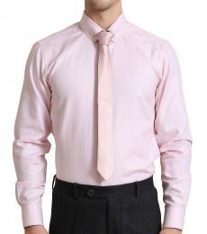 Self Stitch Classic Tie Pin Pink Shirt