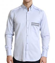 Self Stitch Geometric Detail Shirt