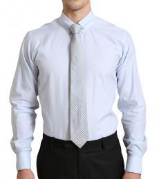 Self Stitch Classic Tie Pin Light Blue Shirt
