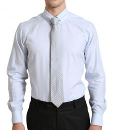 Self Stitch Classic Tie Pin Light Blue Shirt