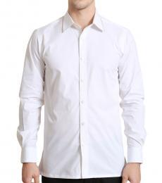 Self Stitch White Embroidered Shirt